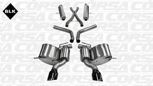 Corsa Sport Cat-Back Exhaust System 2012-2017 Jeep Grand Cherokee SRT-8 6.4L