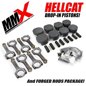 Hellcat 6.2L HEMI Forged Drop-In Pistons and Rods