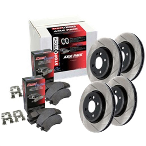 StopTech Street Brake Pad and Rotor Axle Packs Jeep SRT (Front/Rear)
