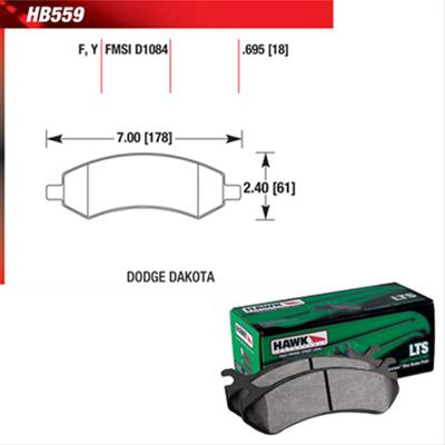 Hawk LTS 06-2016 Dodge Ram 1500 Front Brake Pads