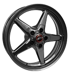 Race Star 17x4.5 Bracket Racer Wheel Dodge Metallic Gray