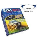 EBC Greenstuff 6000 Dodge Ram Front Brake Pads