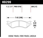 Hawk LTS 02-05 Dodge Ram 1500 Front Brake Pads
