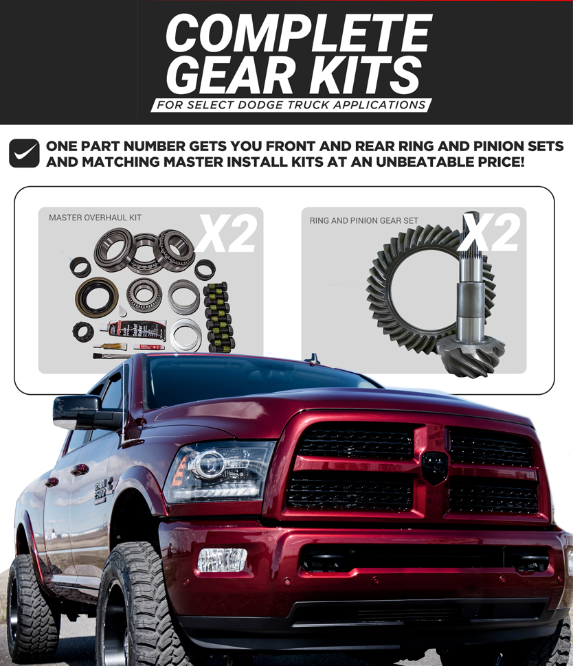 Yukon Complete Gear Kit 4.11 Ratio 2011-13 Dodge Ram